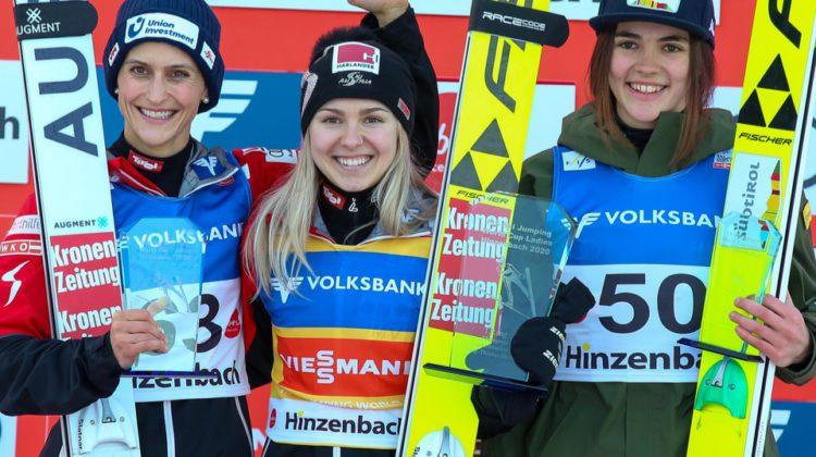 Überfliegerin Chiara Hölzl sorgte für österreichischen  Doppelsieg in Hinzenbach